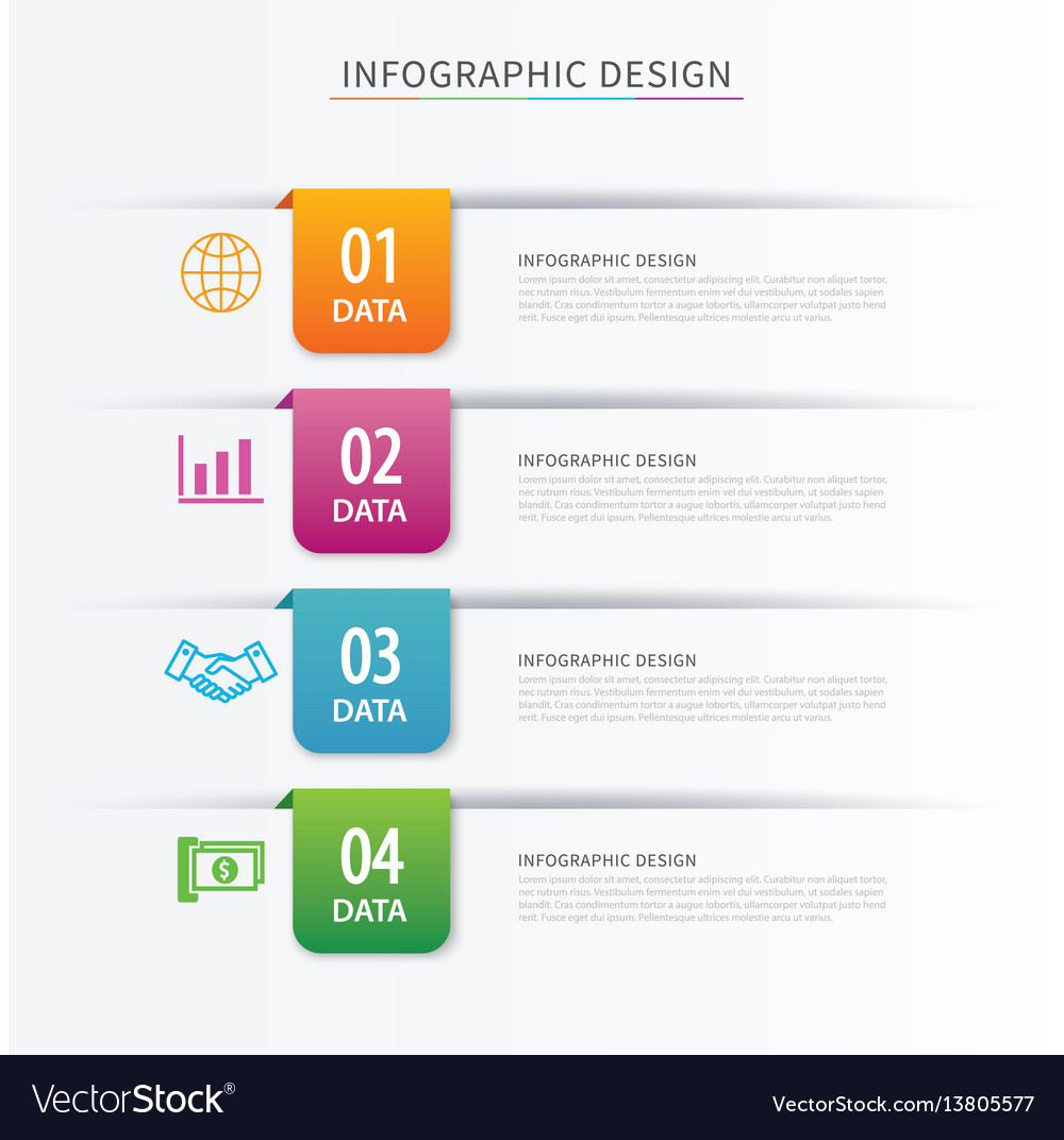 Business index infographics template with 4 data