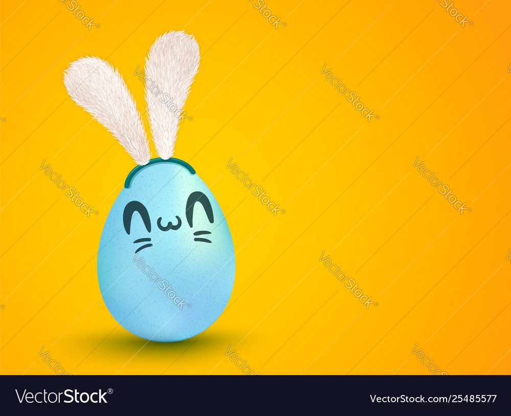 Egg with bunny ears