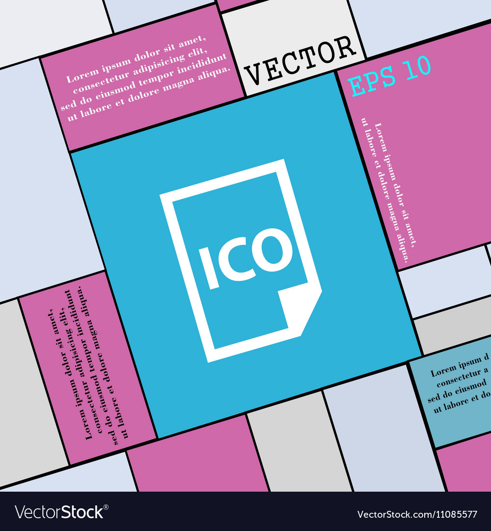 File ico icon sign Modern flat style for your