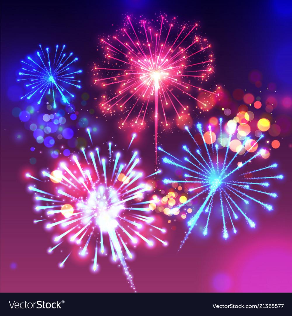 Fireworks sparkling background