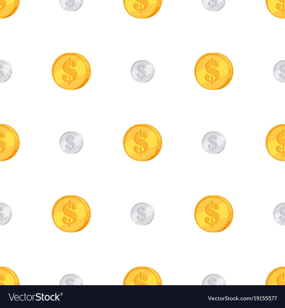 Golden and silver coins with dollar sign isolated