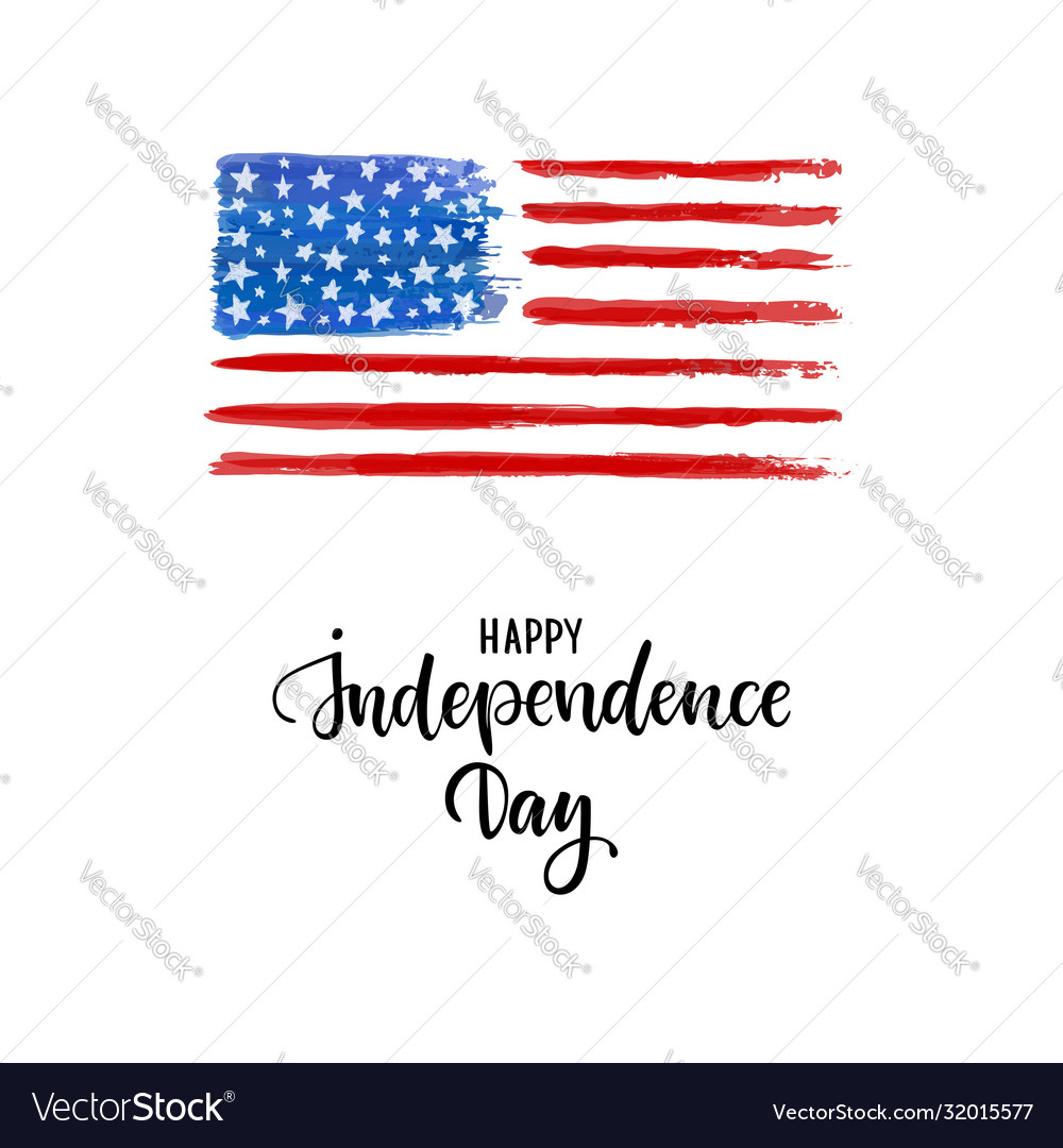 Happy independence day card american independence