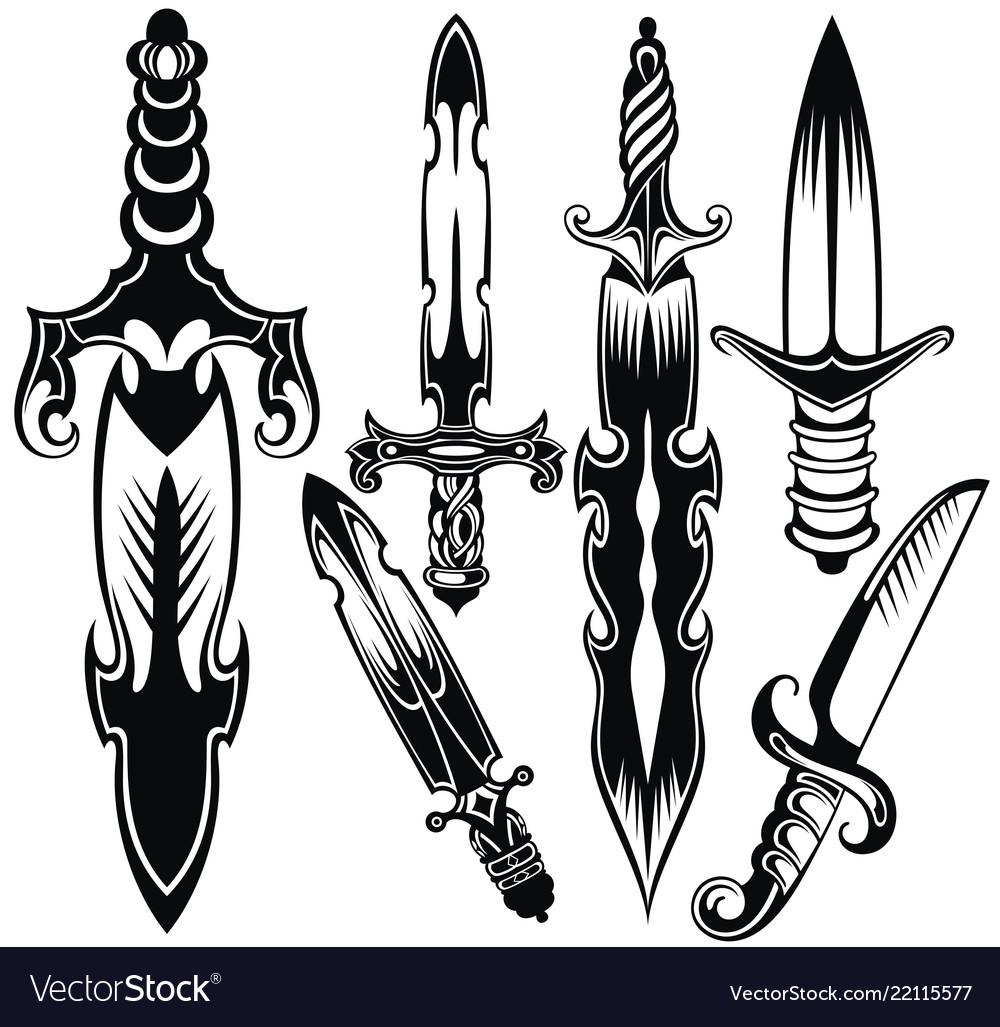 Knife sword symbols