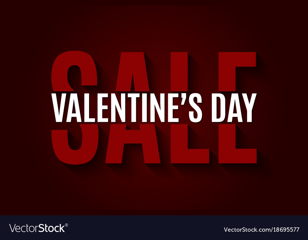 Valentines day sale design background vector image