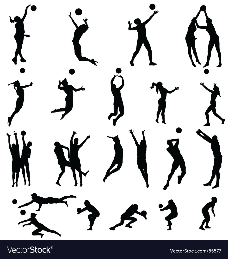Volley silhouettes