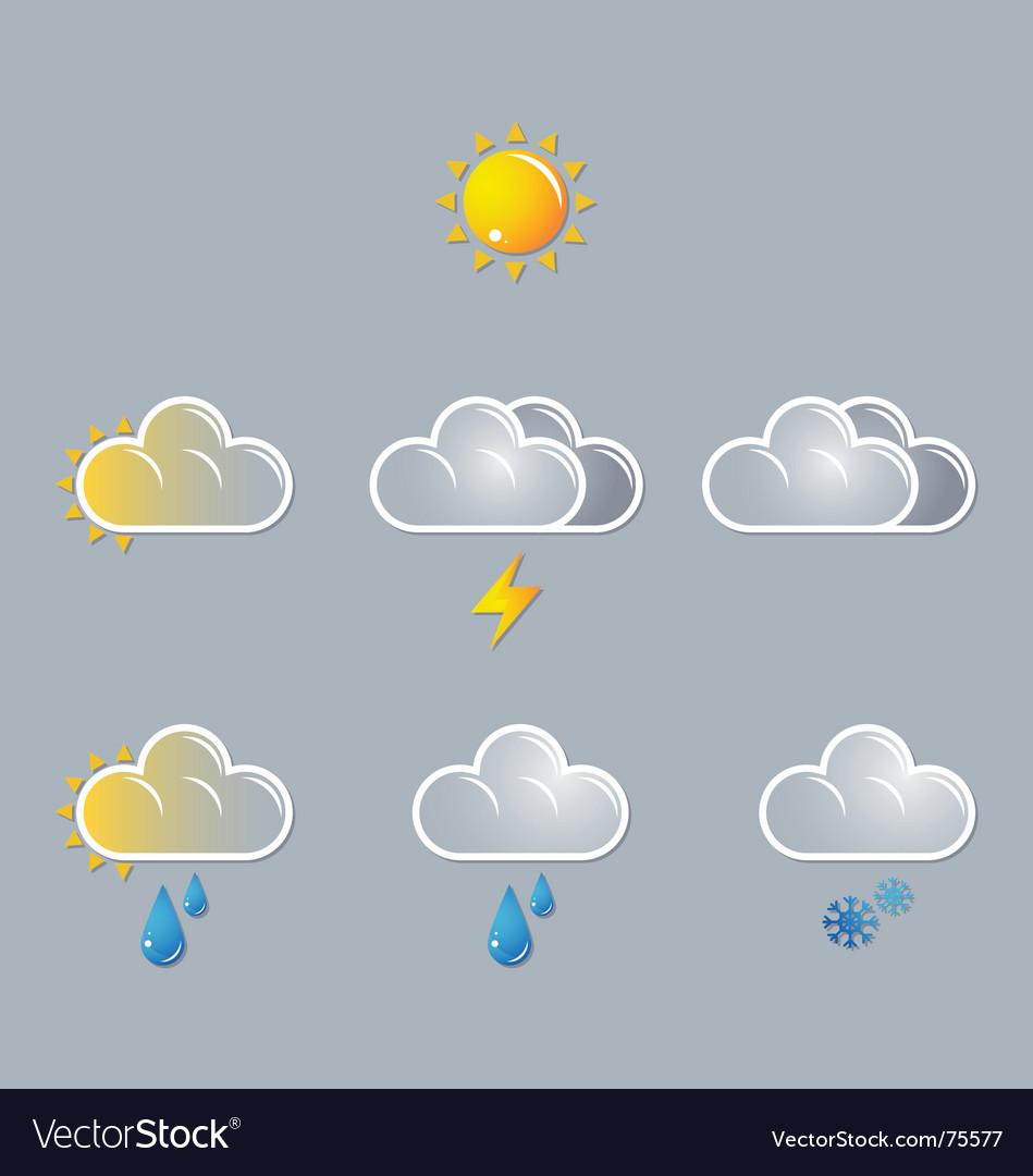 Webweather icons sun cloud vector image