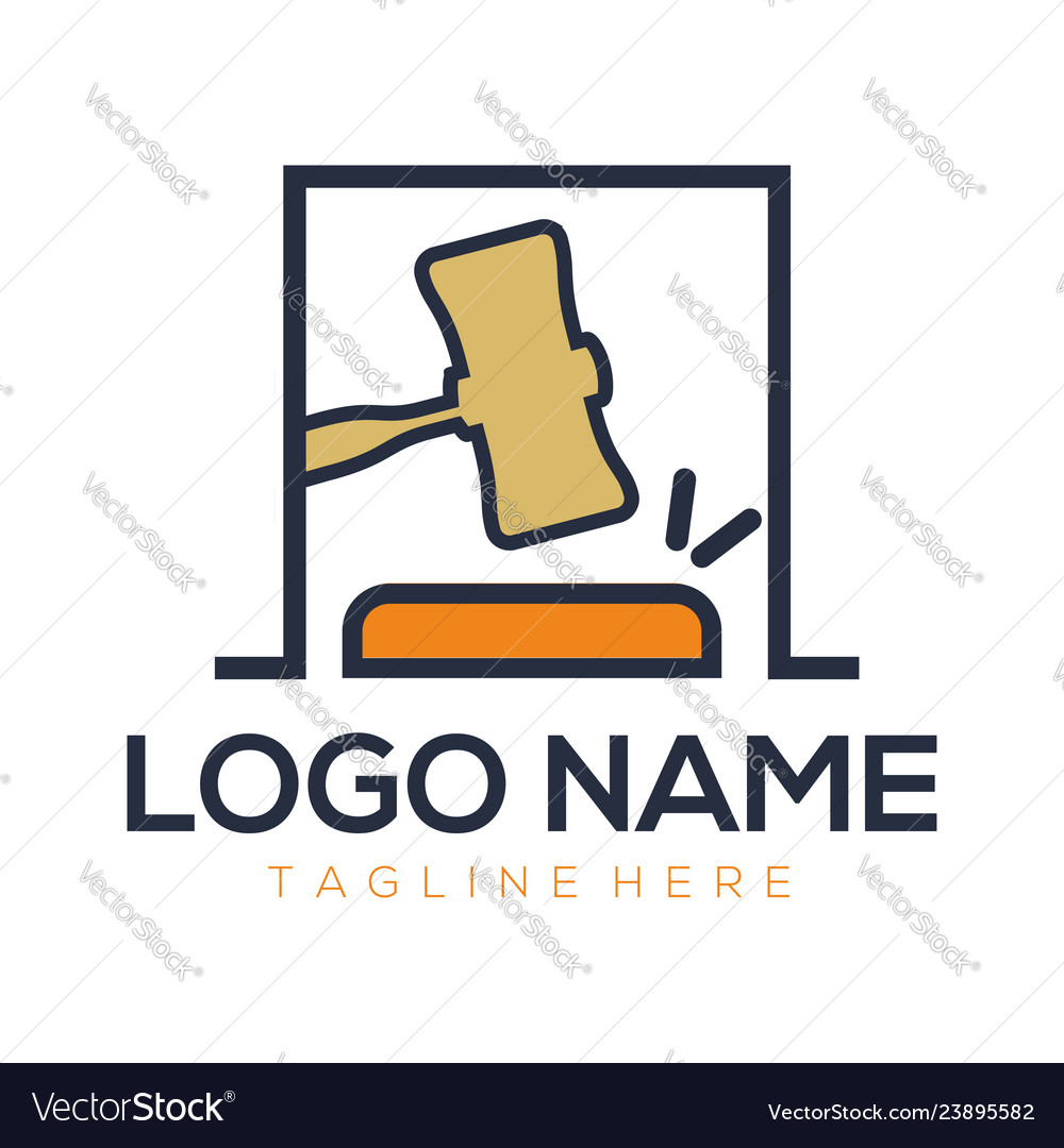 Attorney and law logo design and icon