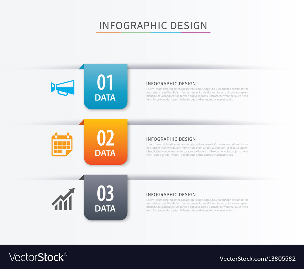 Business index infographics template with 3 data