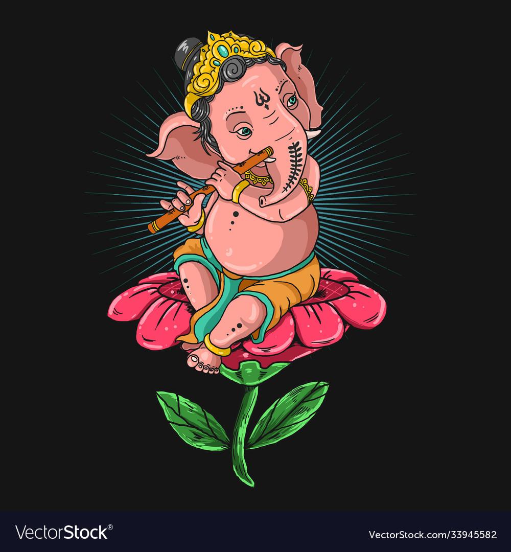 Ganeshaganesha playing flute g