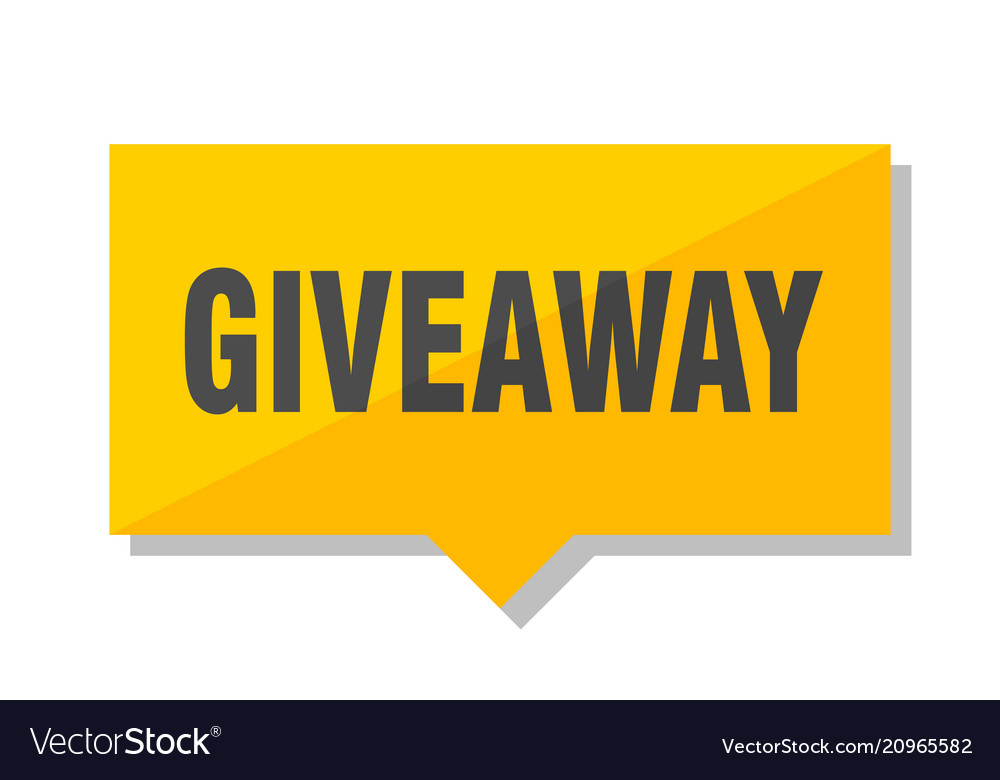 Giveaway price tag
