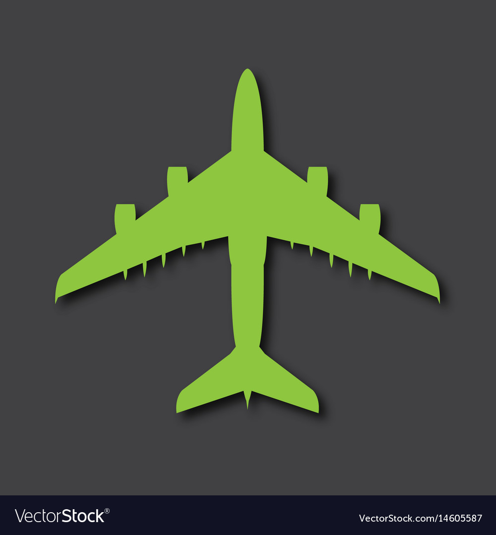 Airplane logo big airliner with drop shadows
