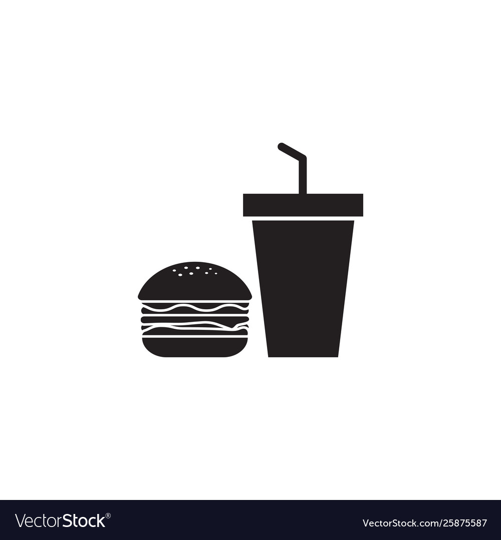 Junk food icon design template isolated