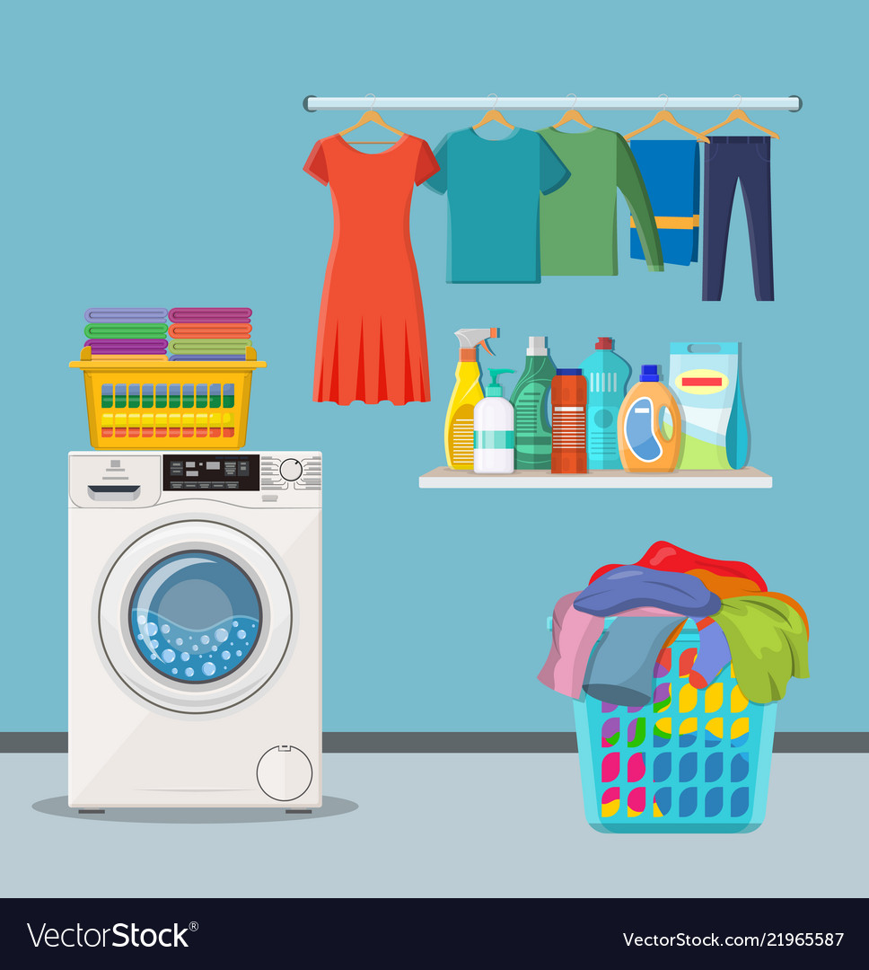 Laundry Room Service Royalty Free Vector Image