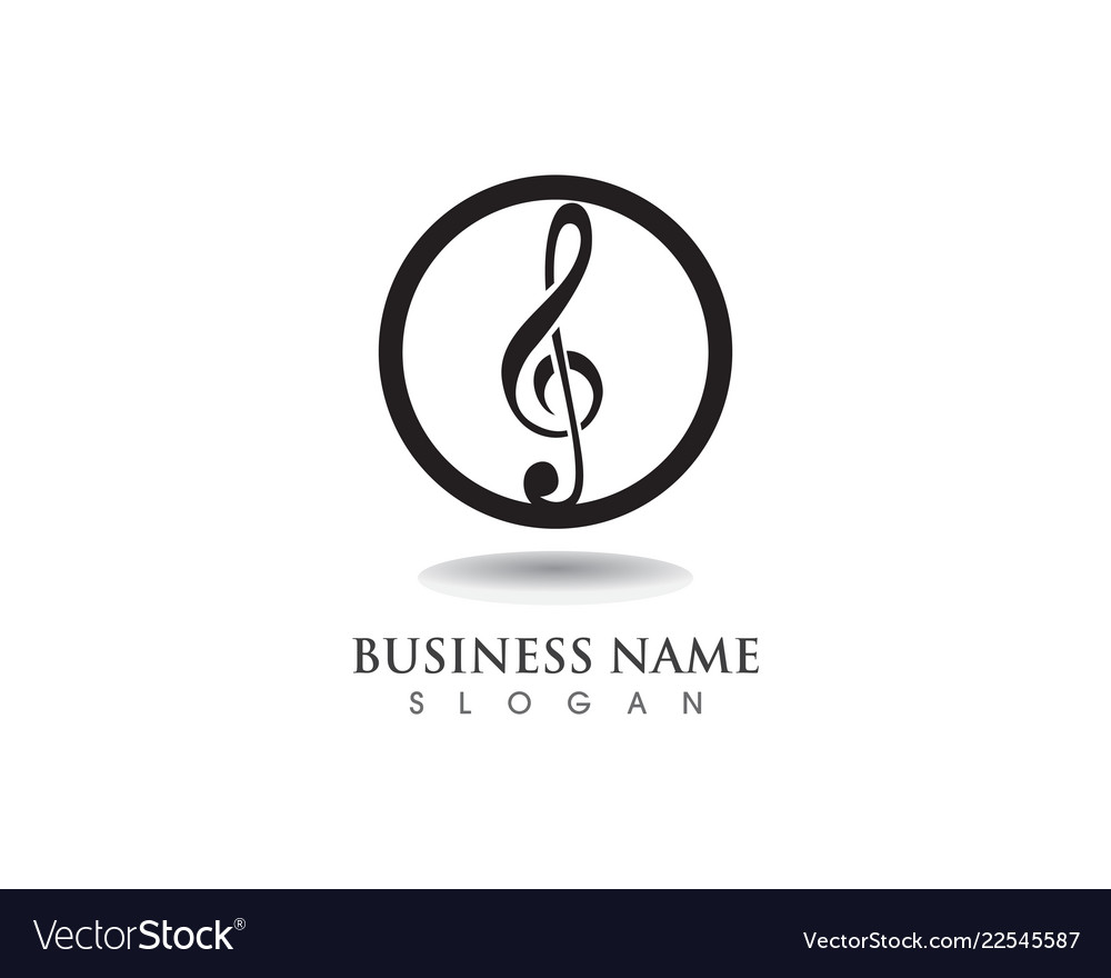 Music Note Symbol Logo And Icons Template Vector Image