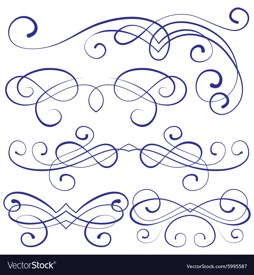 Set calligraphic design elements and page