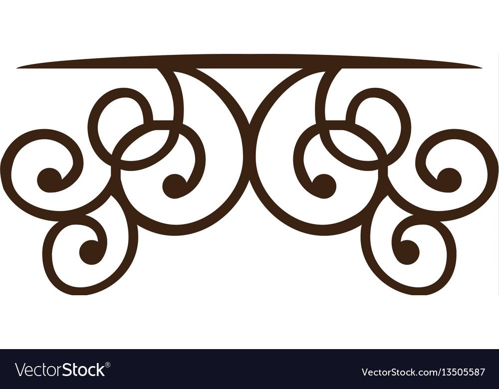Silhouette decorative ornament frames corner