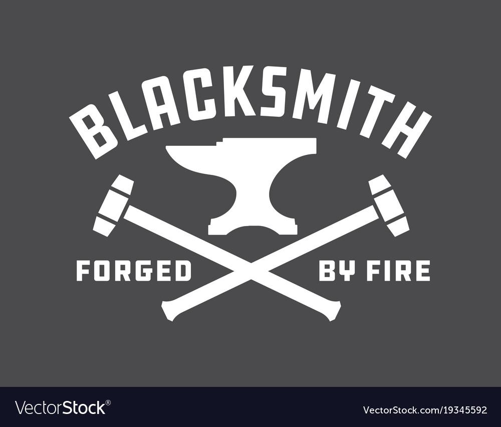 Blacksmith emblem or badge