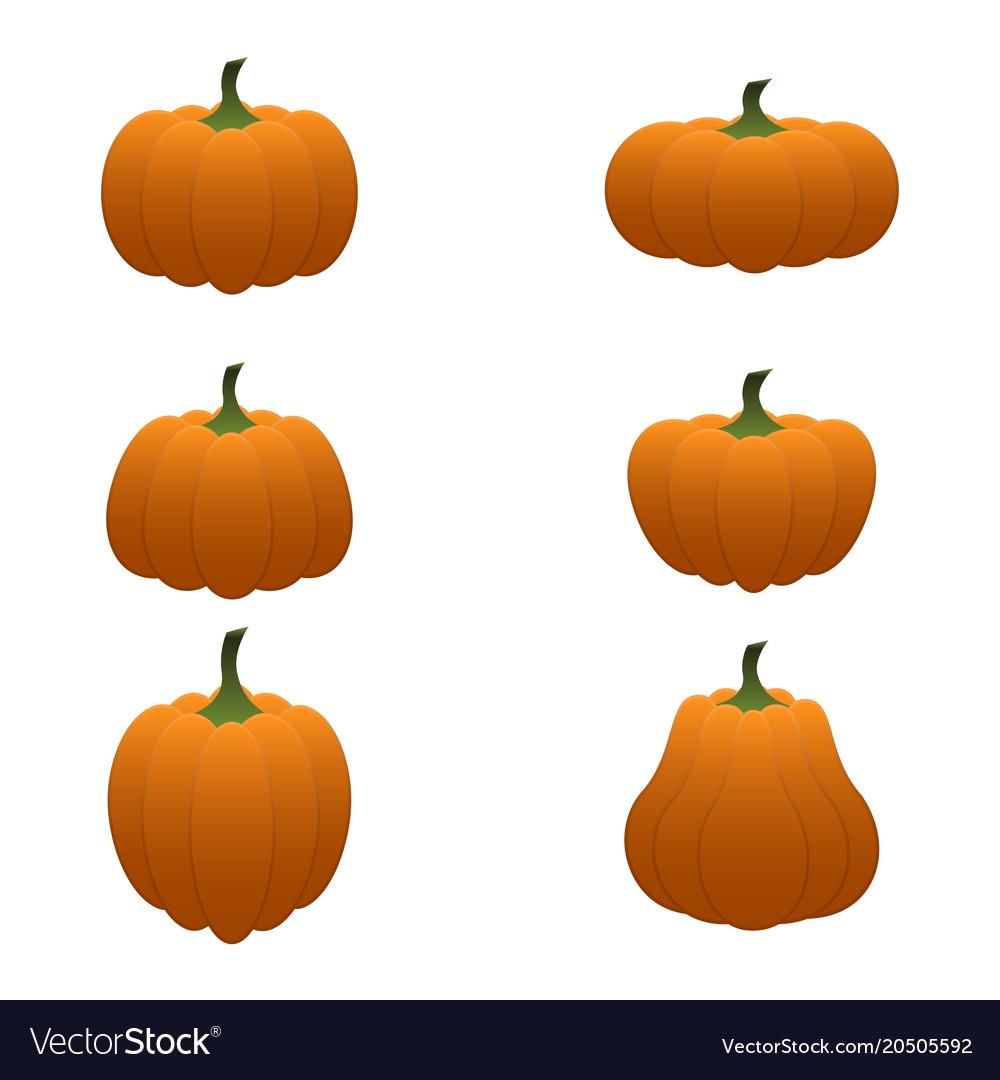 Cartoon pumpkin set
