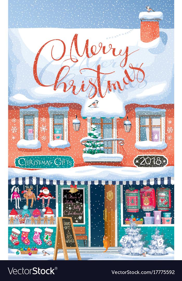 Christmas market greeting card royalty free vector image christmas market greeting card vector image m4hsunfo