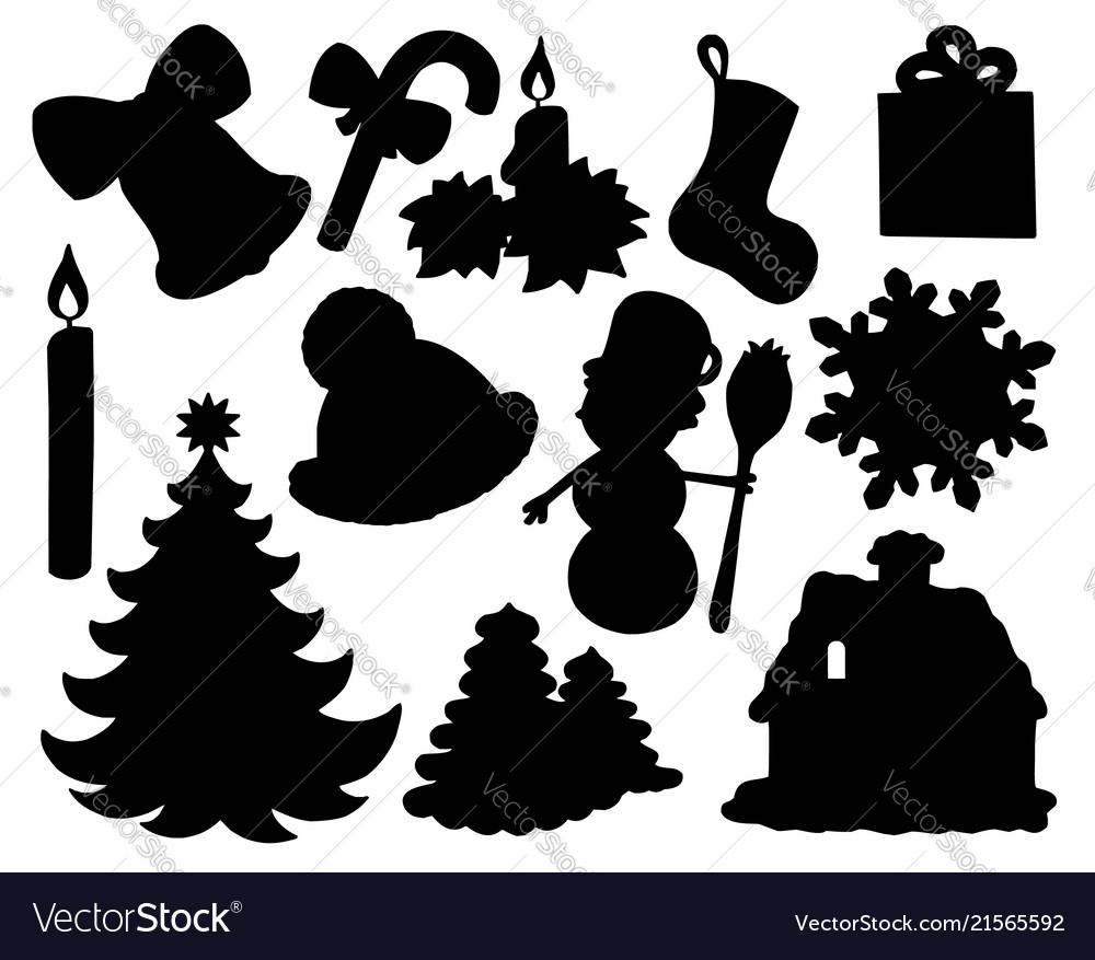 Christmas Silhouette.Christmas Silhouette Collection 02