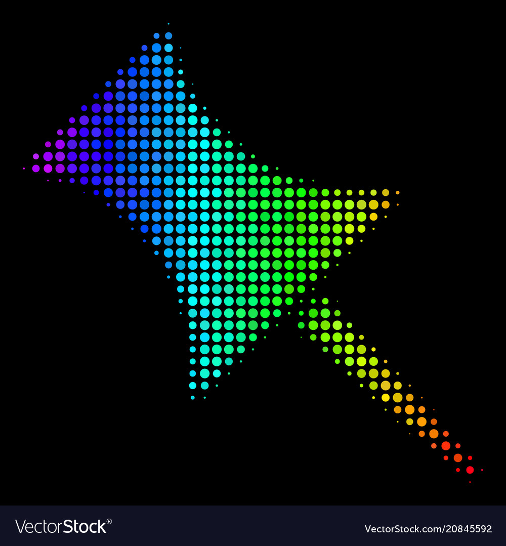 Colored dotted pin icon