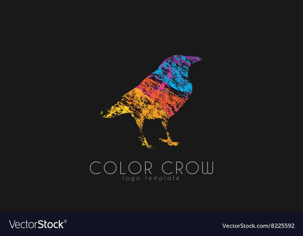 Crow logo Color crow logo Bird logo