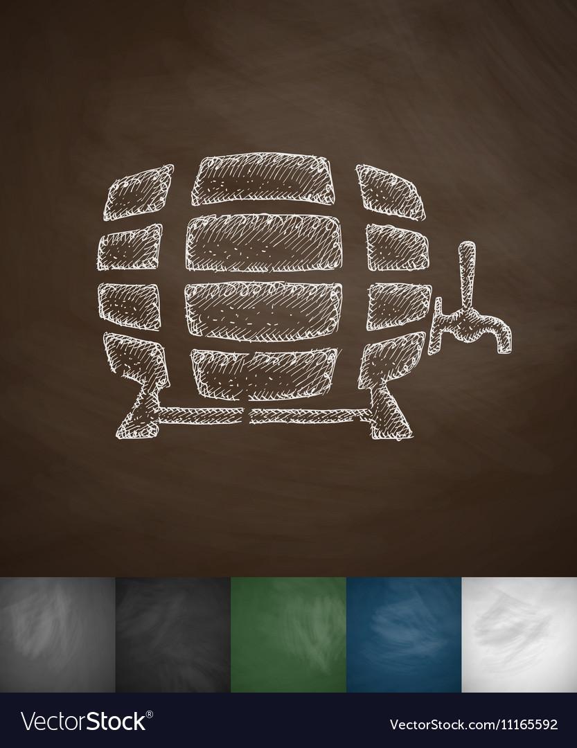 Keg of beer icon