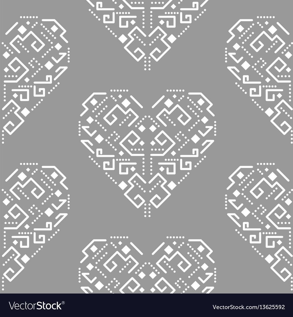 Navajo heart shape ornament seamless