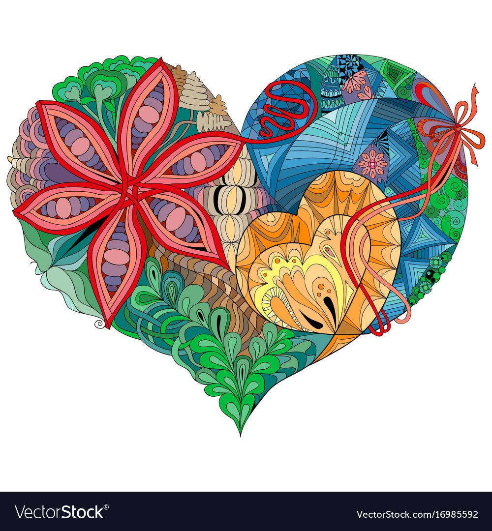 Sketchy doodle heart sketchy doodle heart