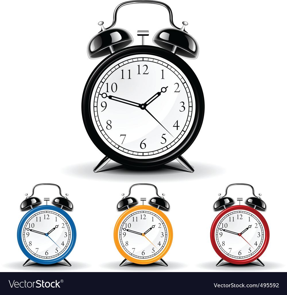 Vector alarm clock vector image