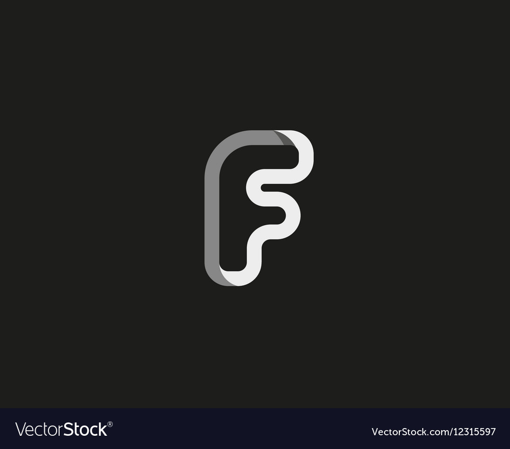 Abstract letter F logo design template Creative Vector Image