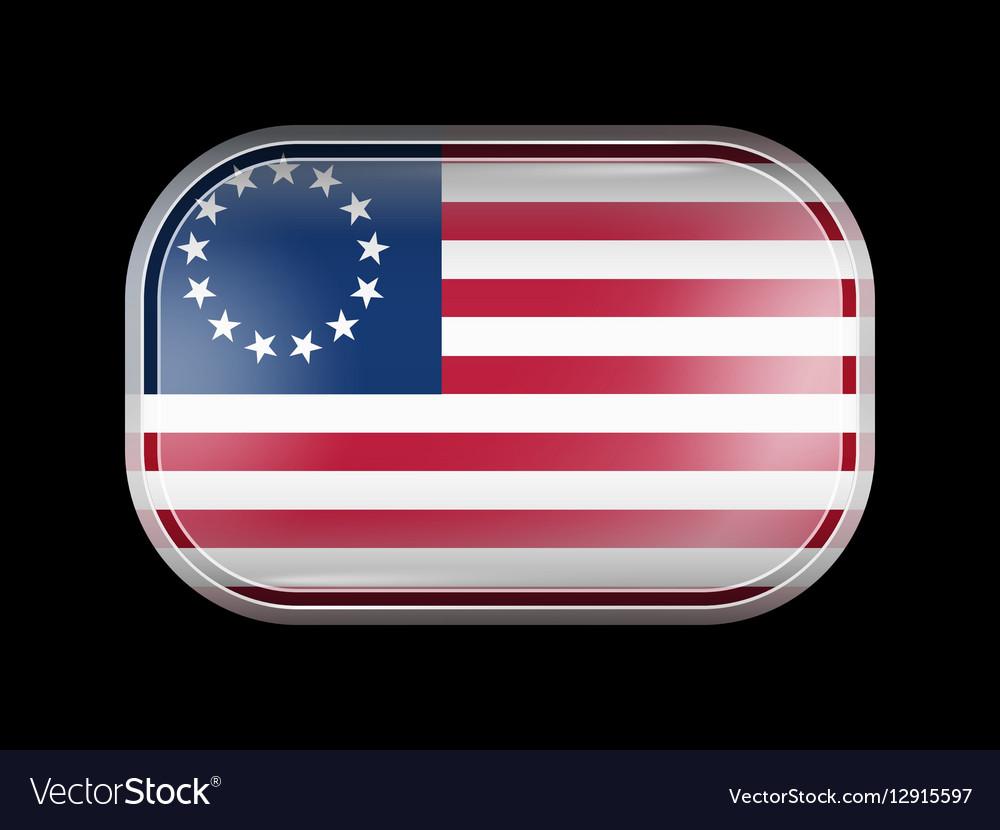 American Betsy Ross Flag Rectangular Shape