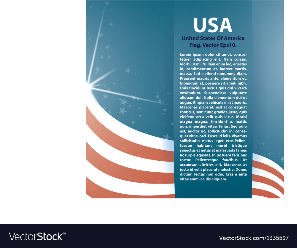 Background USA flag and Text