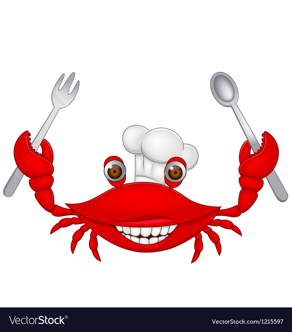 Crab chef cartoon