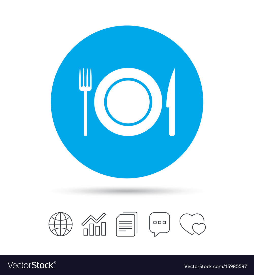 Food sign icon cutlery symbol knife and fork