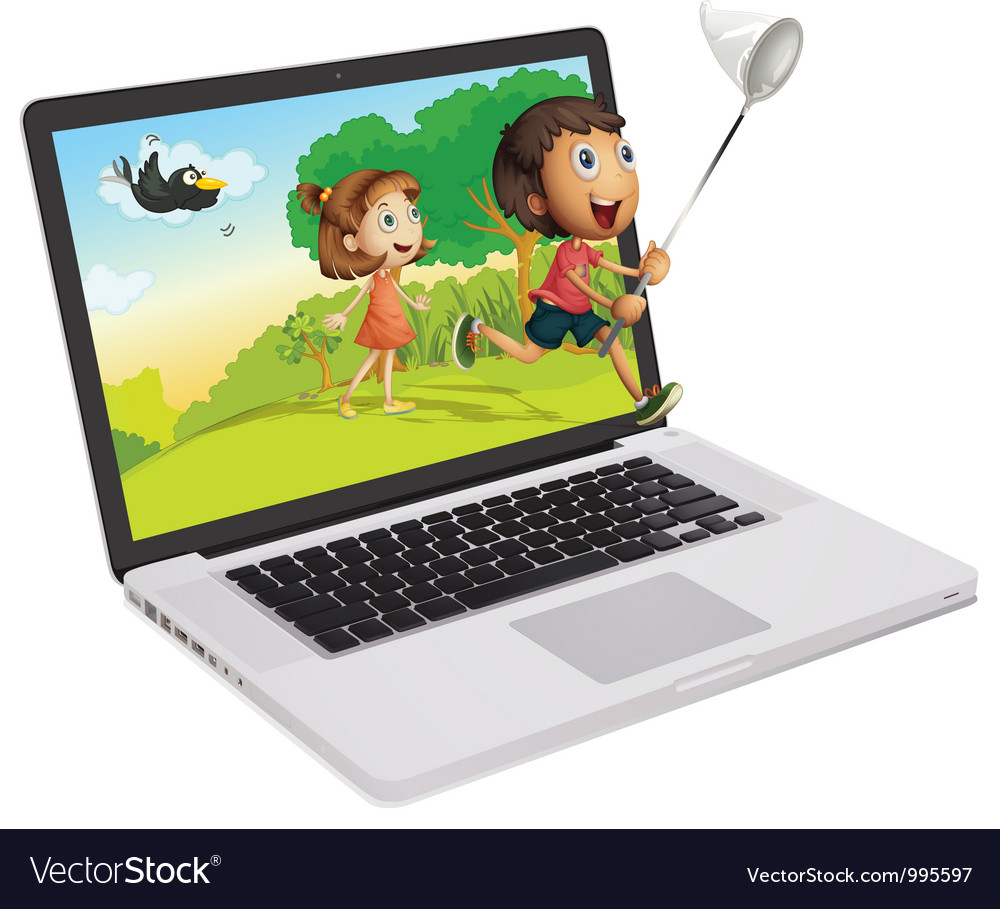 Laptop Display vector image