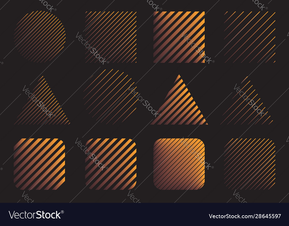 Set abstract modern gradient shapes design