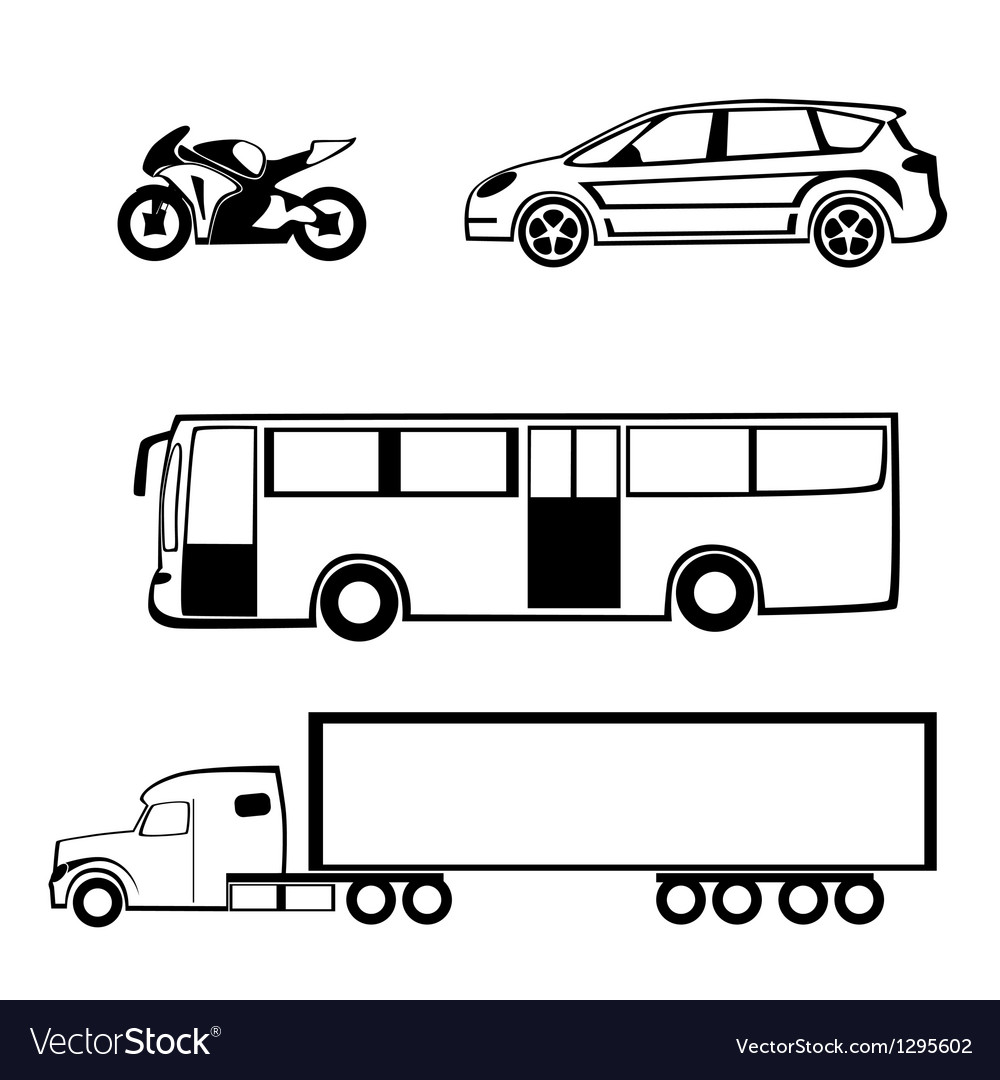 Bike car bus truck
