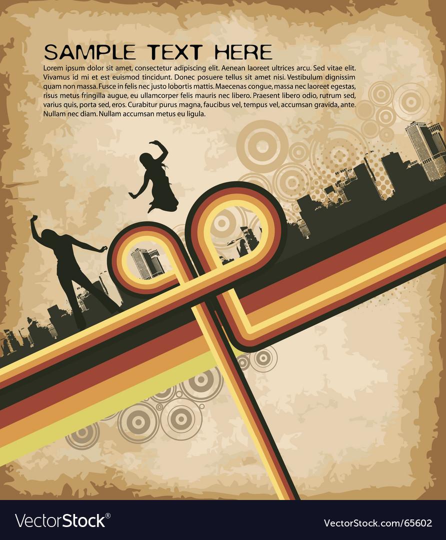 Grunge retro party brochure