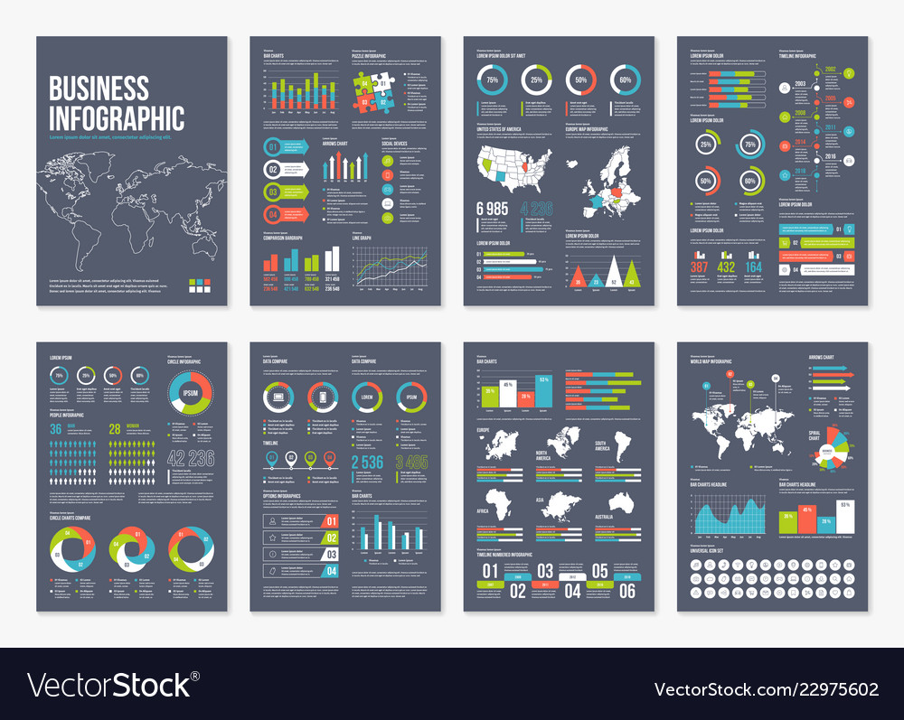 Infographic a4 brochure elements