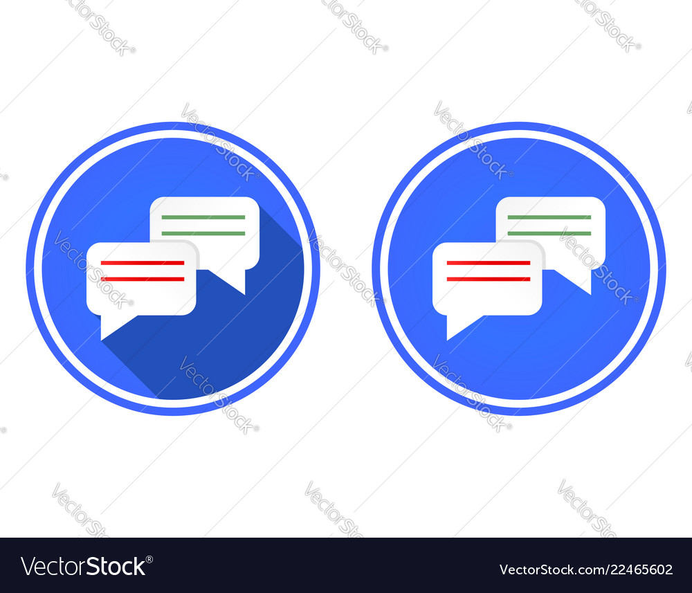 Messaging round flat icon chat icon isolated on
