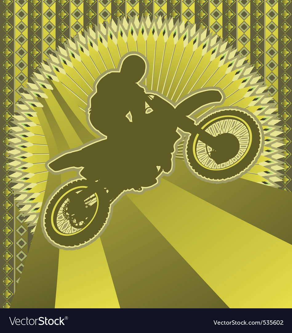 Motorcyclist vintage design vector image