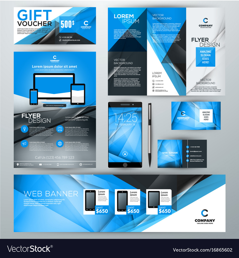 set of stationery design templates corporate vector image
