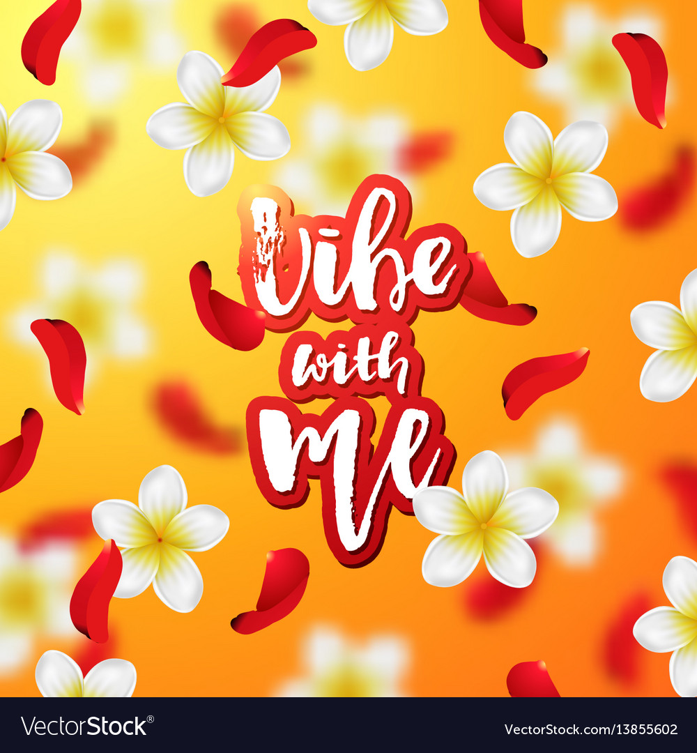 Summer and spring background with tropical flowers vector image