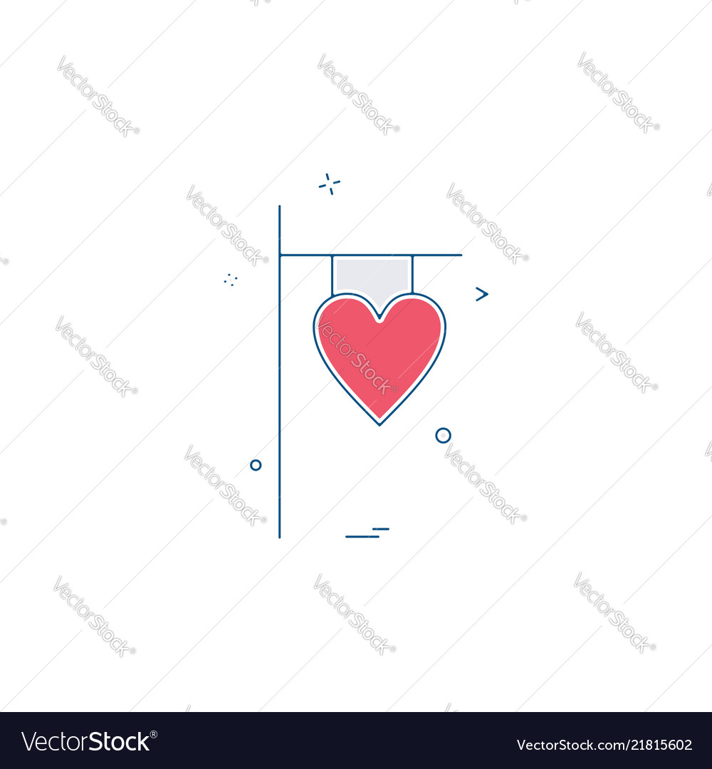 Valentines heart name plate icon design