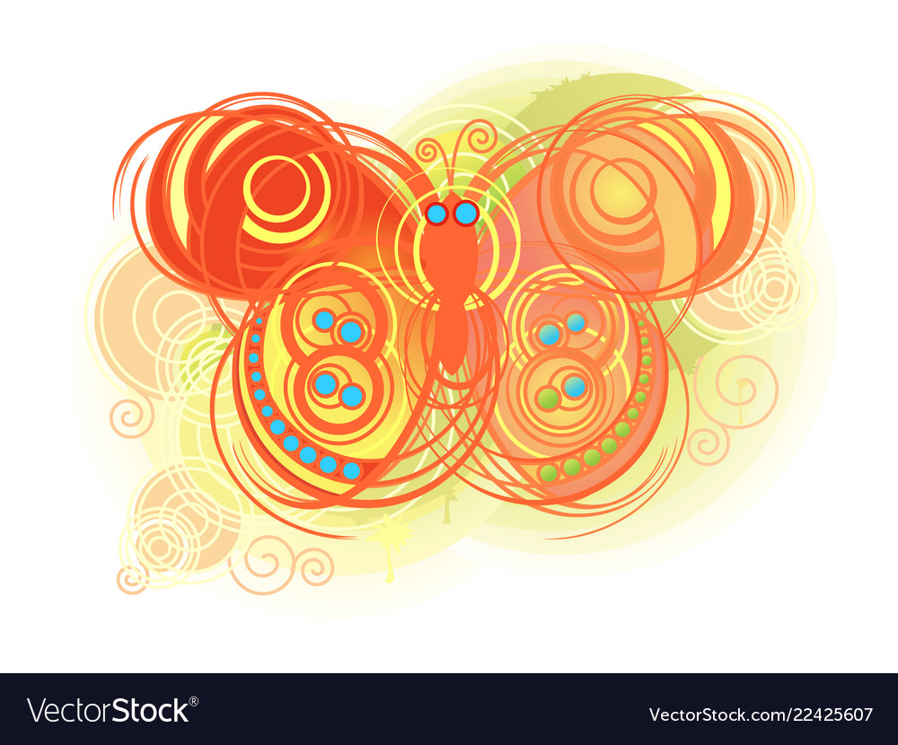 Abstract colorful butterflies background