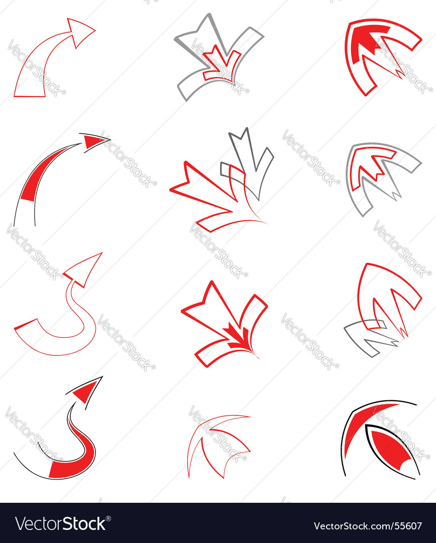 Artistic arrows vector image