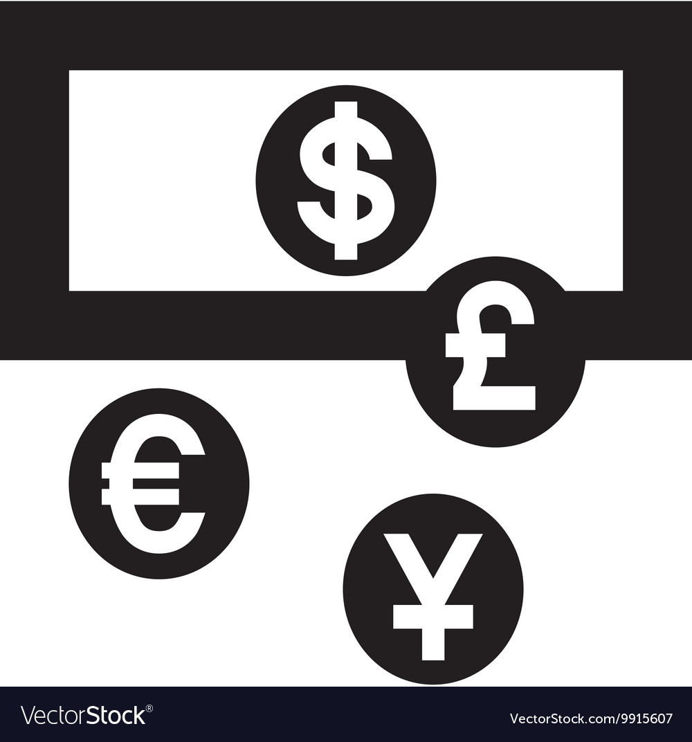 Currency Exchange Euro Symbol Vector Image