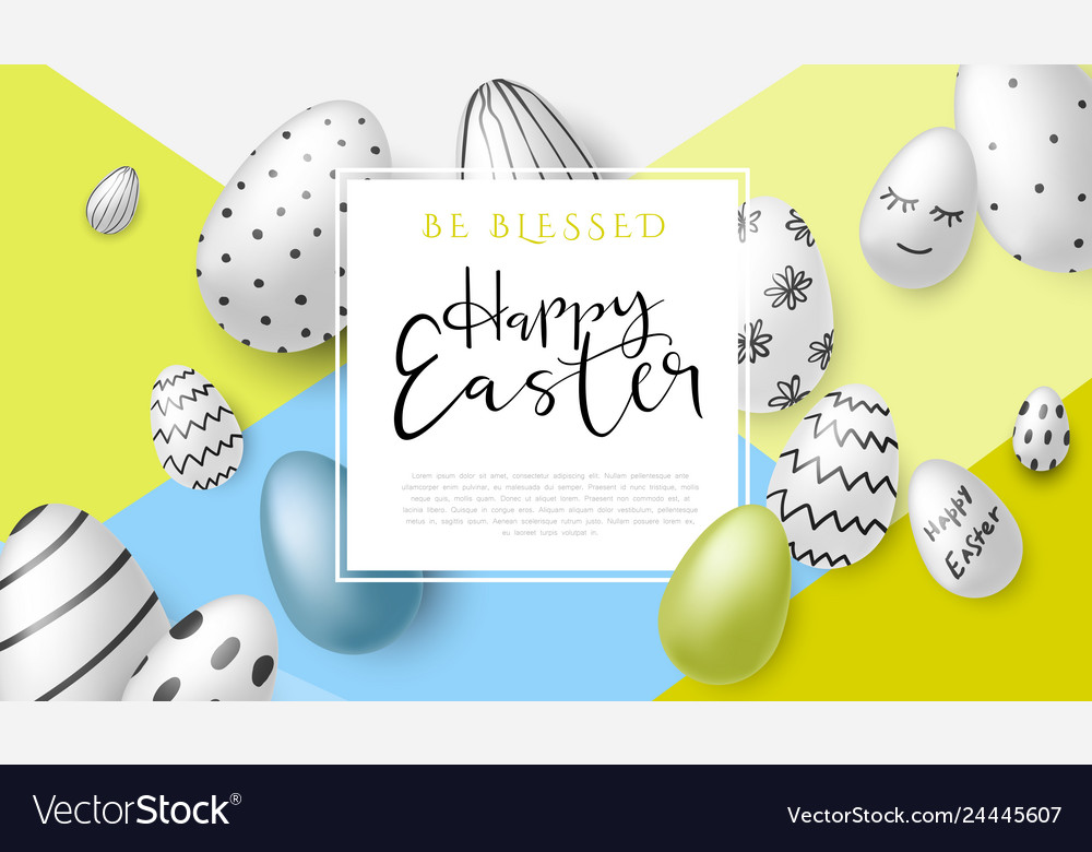 Easter day greetings banner