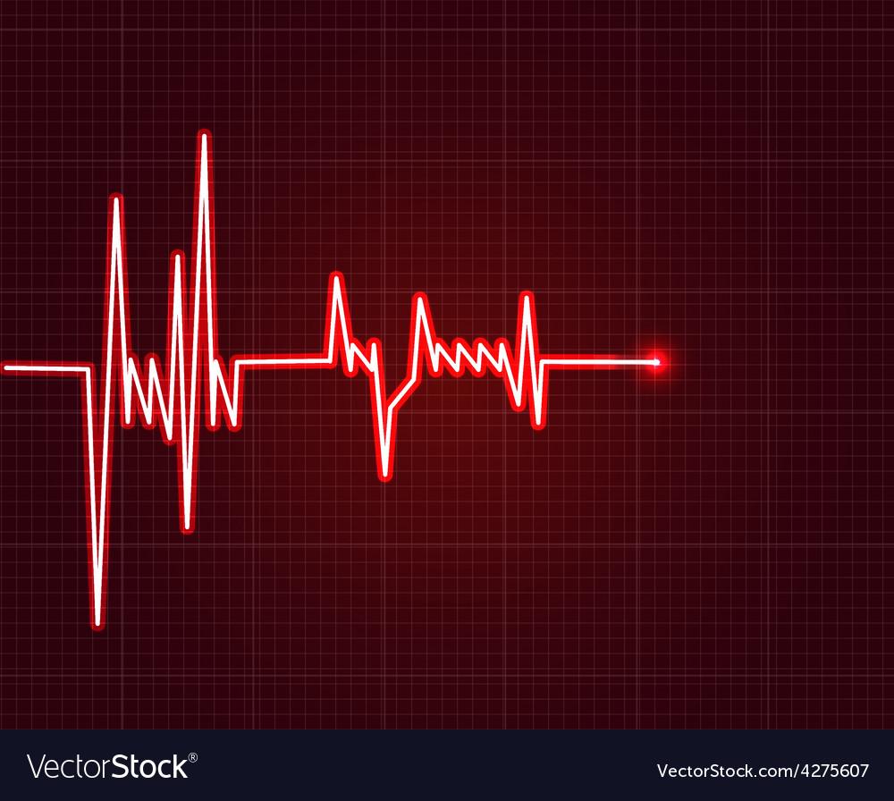 Electrowave heart beat cardiogram Pulse icon